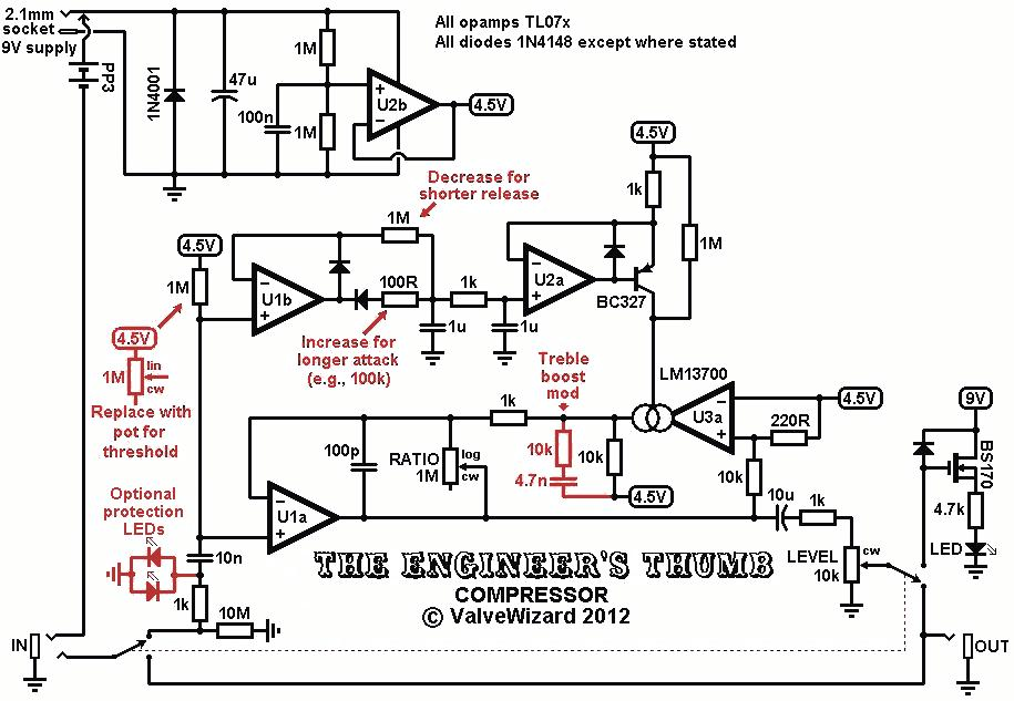 the valve wizard an important feature of this circuit is that the side chain is feedforward most compressors use a feedback approach where the amount of compression is