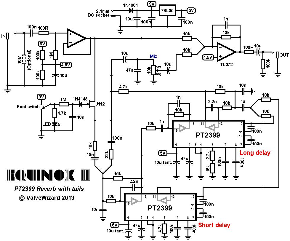 boss ds-1 schematic  | www.diystompboxes.com
